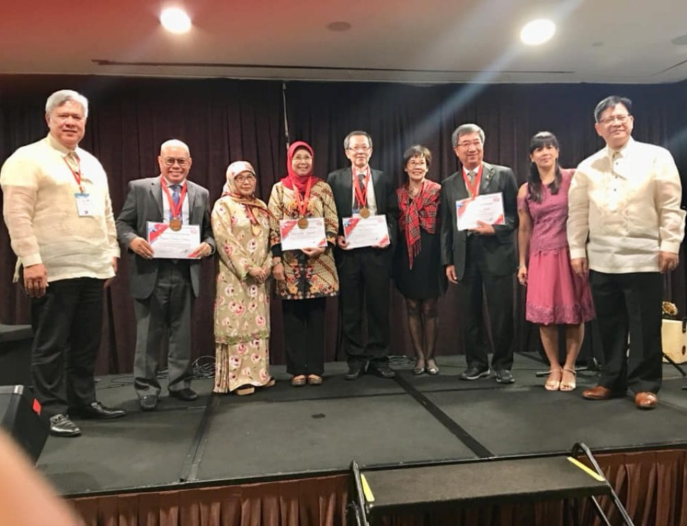 The Council of ASEAN FLAG conferred Honorary Presidents in Singapore